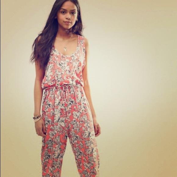 28a34164889a ASOS Pants - Brave Soul Floral Jumpsuit